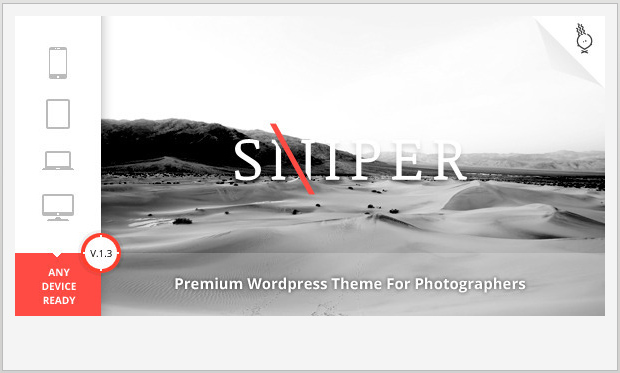 Sniper -Responsive WordPress Theme for Photographers