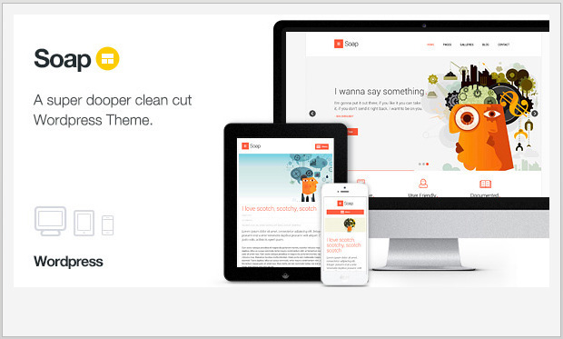 Soap -Responsive Three Column WordPress Theme