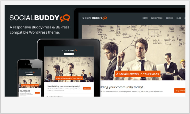 Social Buddy -Responsive Buddypress WordPress Theme