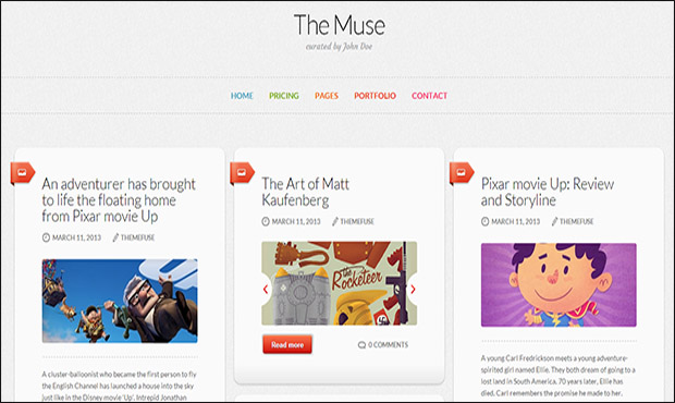 The Muse -Responsive Three Column WordPress Theme