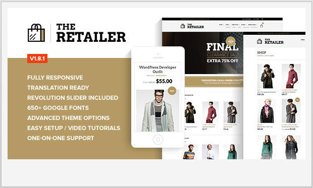 The Retailer -Responsive WooCommerce WordPress Theme