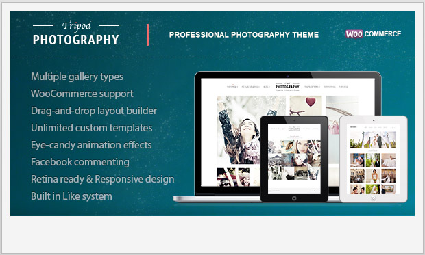 Tripod -Responsive WordPress Theme for Photographers