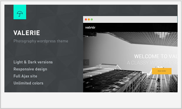 Valerie -Responsive WordPress Theme for Photographers