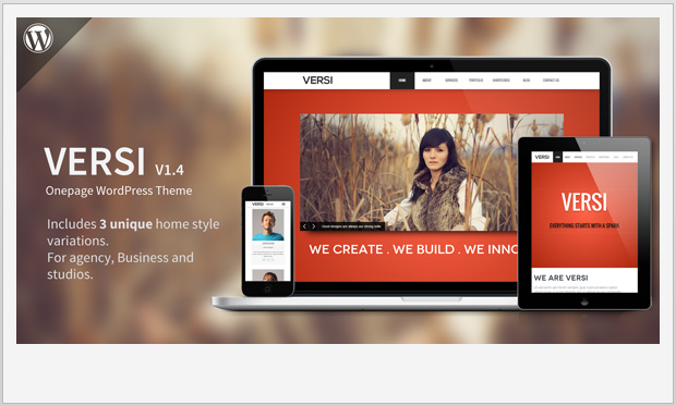 Versi -Single Page WordPress Theme