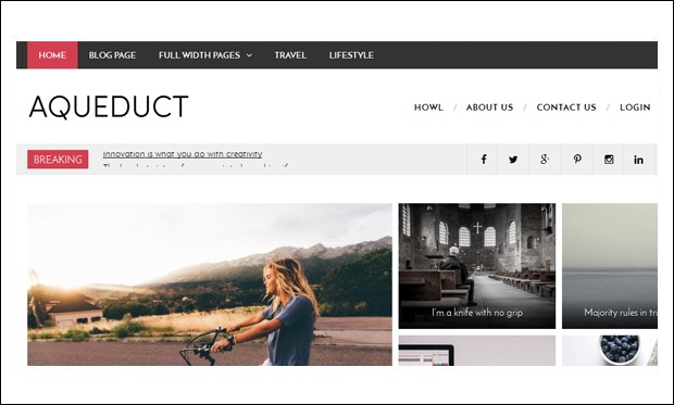 Aqueduct - Magazine WordPress Themes