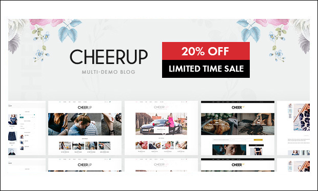CheerUp - WordPress Themes for Bloggers