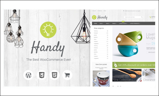 Handy - WooCommerce WordPress Themes