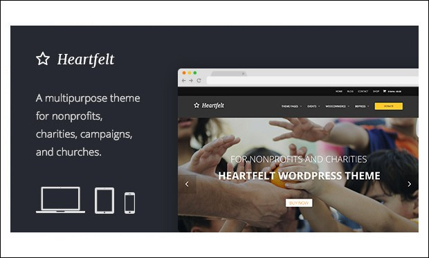 Heartfelt - WordPress Themes for Non-Profit Organizations
