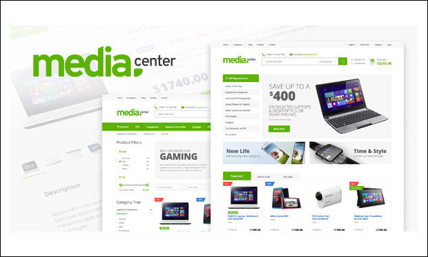 MediaCenter - WooCommerce WordPress Themes