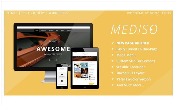 Mediso - Three Column WordPress Themes