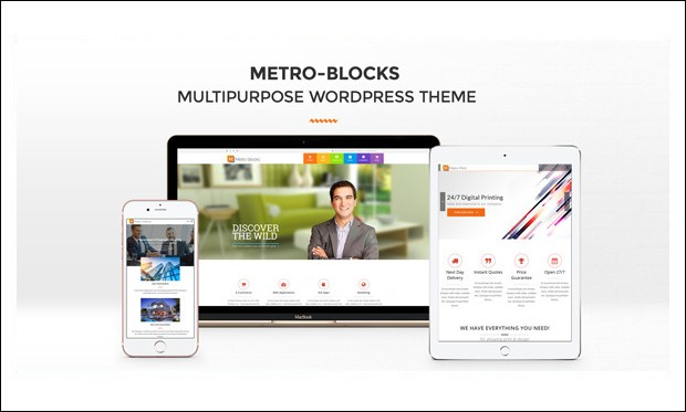 Metro-Blocks - Metro Styled WordPress Themes