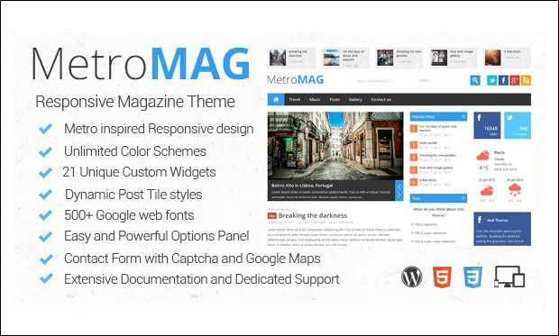 Metro Magazine - Metro Styled WordPress Themes
