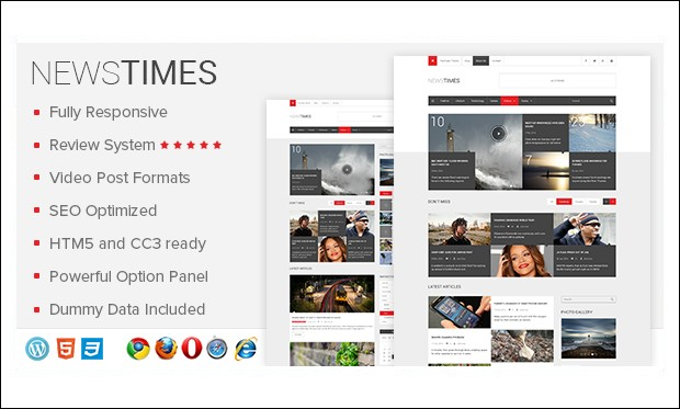 NewsTimes - Three Column WordPress Themes