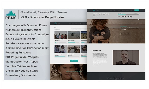 Peak - WordPress Themes for Non-Profit Organizations