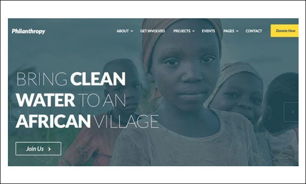 Philanthropy - WordPress Themes for Non-Profit Organizations