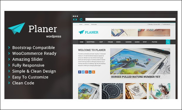 Planer - Three Column WordPress Themes