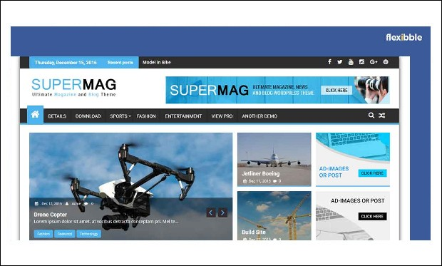SuperMag - Magazine WordPress Themes