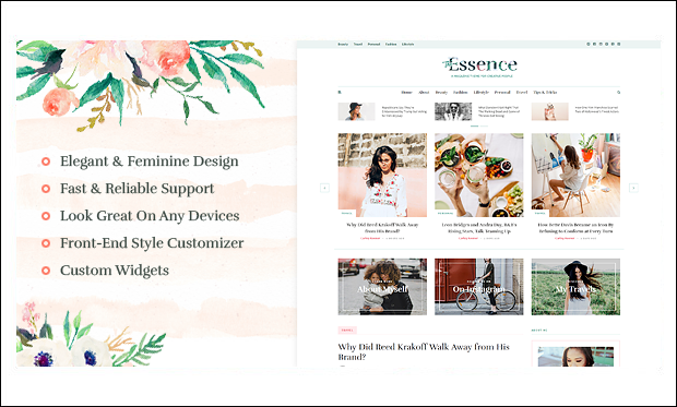 The Essence - WordPress Themes for Bloggers