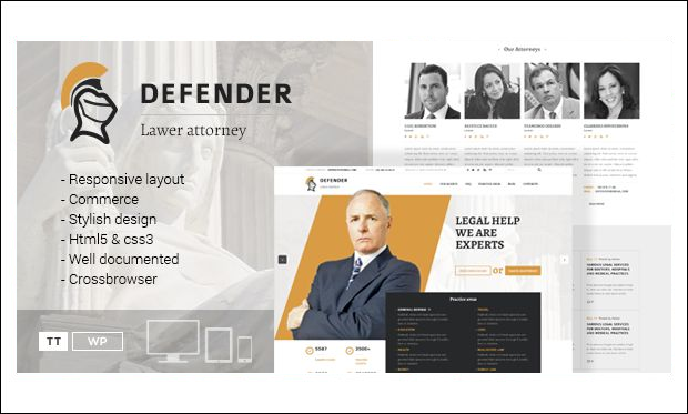 Defender - WordPress Themes for Lawyers and Attorneys