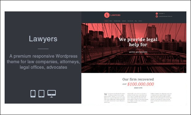 Lawyers - WordPress Themes for Lawyers and Attorneys