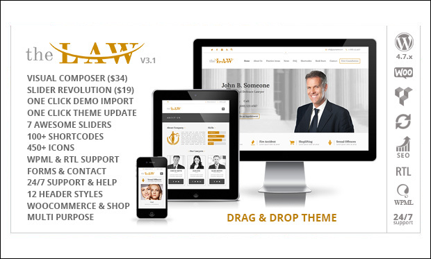 The Law - WordPress Themes for Lawyers and Attorneys