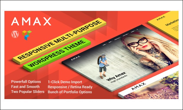 Amax - Designer WordPress Themes
