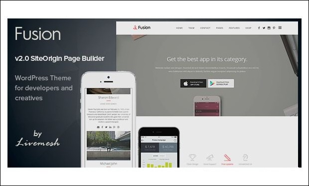 Fusion - Landing Page WordPress Themes