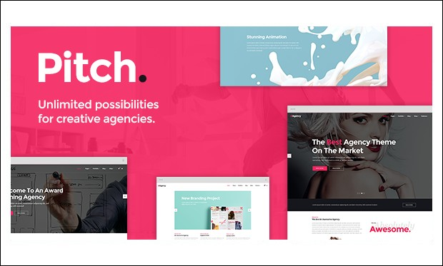 Pitch - Creative Agencies WordPress Themes