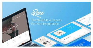 Rare - Landing Page WordPress Themes