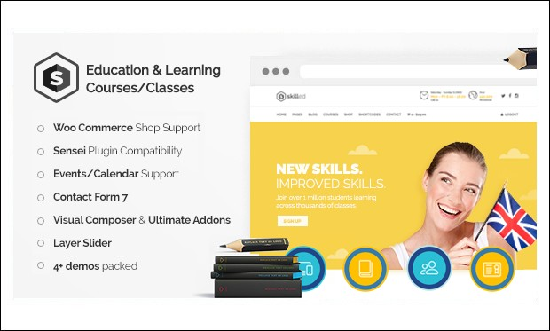 Skilled - Schools and Universities WordPress Themes