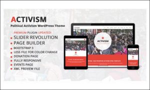 Activism - 35+ Responsive WordPress Themes for Politicians and Political Parties