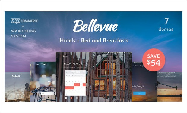 Bellevue - WordPress Themes for Hotel Bookings and Accommodation