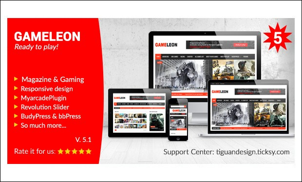 Gameleon - WordPress Themes for Gaming Websites