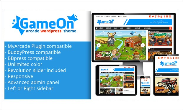 Gameon - WordPress Themes for Gaming Websites