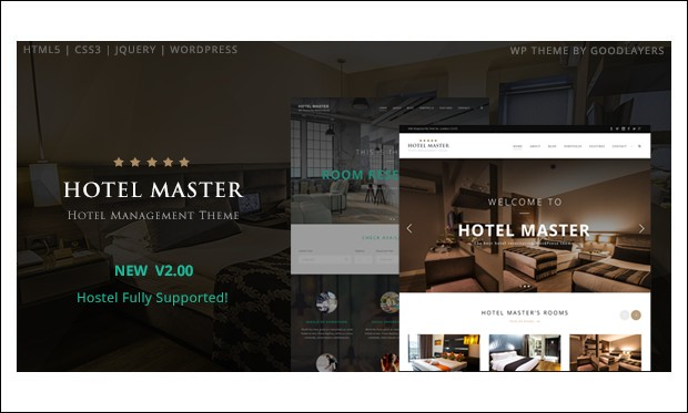 Hotel master -WordPress Themes for Hotel Bookings and Accommodation