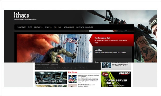 Ithaca - WordPress Themes for Gaming Websites