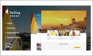 Sailing - WordPress Themes for Hotel Bookings and Accommodation