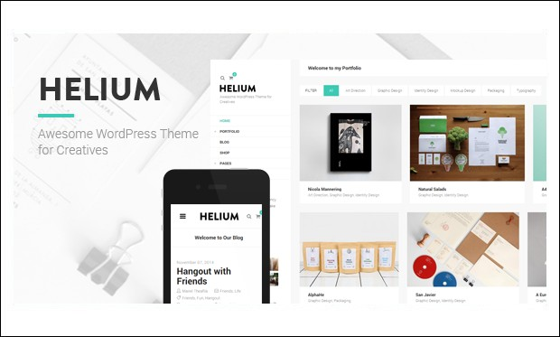 Helium - AJAXED Responsive WordPress Themes