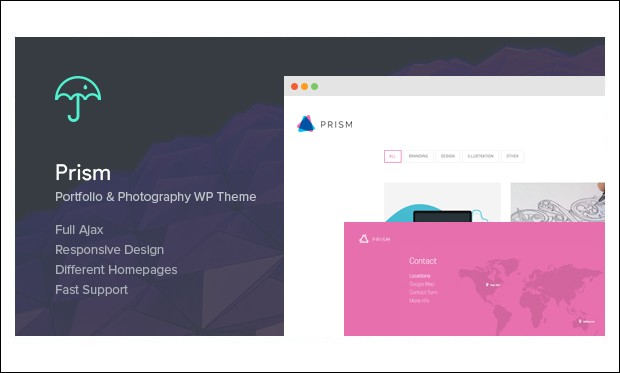 Prism - AJAXED Responsive WordPress Themes