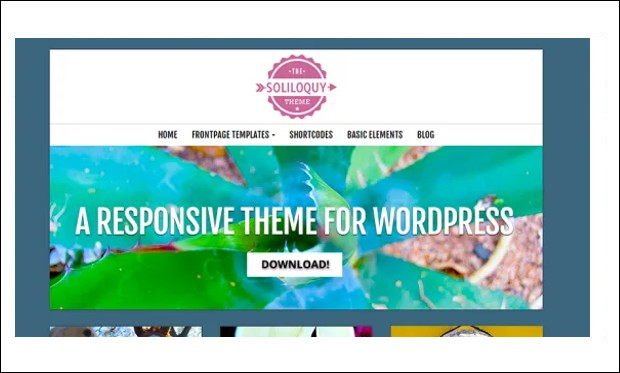 Soliloquy - Designed Responsive WordPress Themes