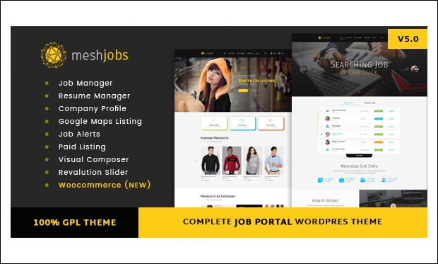 MeshJobs - Job Board and Classifieds WordPress Themes