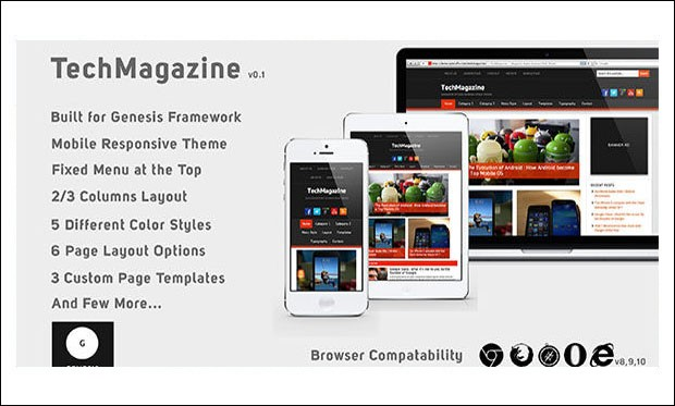 TechMagazine - Genesis Framework WordPress Themes
