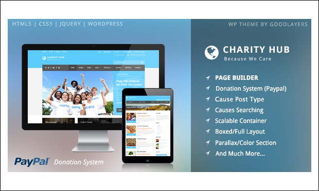 Charity Hub - Crowdfunding WordPress Themes
