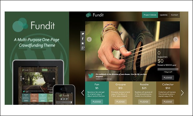 Fundit - Crowdfunding WordPress Themes