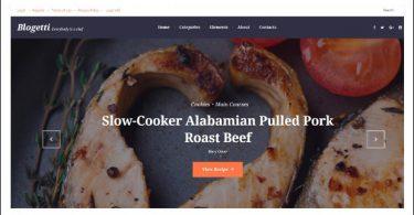 Blogetti - WordPress Theme for Recipe Magazines