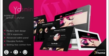 Yasmin - WordPress Themes for Makeup Artists